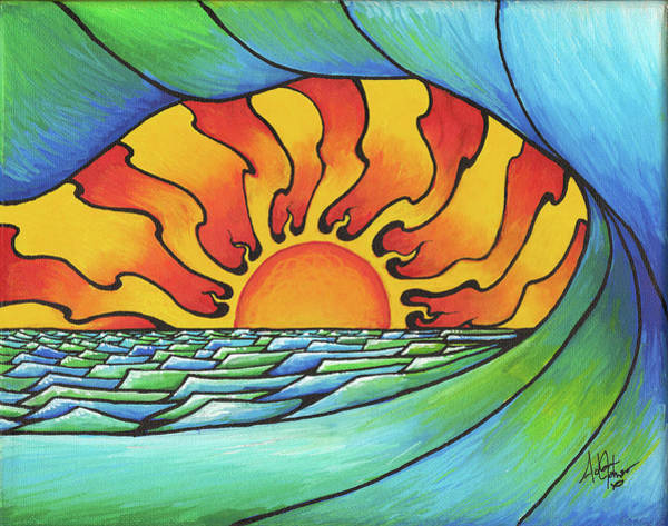 Painting - Sun Through The Curl by Adam Johnson