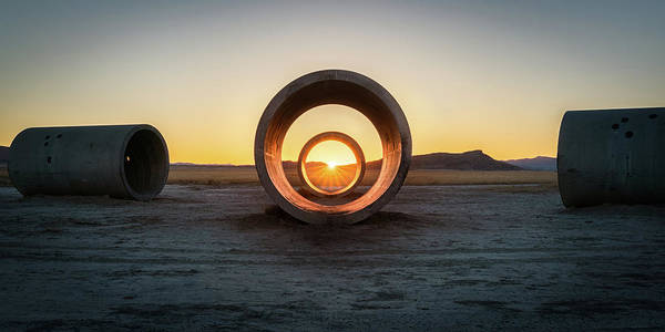 Middle Of Nowhere Photograph - Sun Tunnel Solstice by James Udall