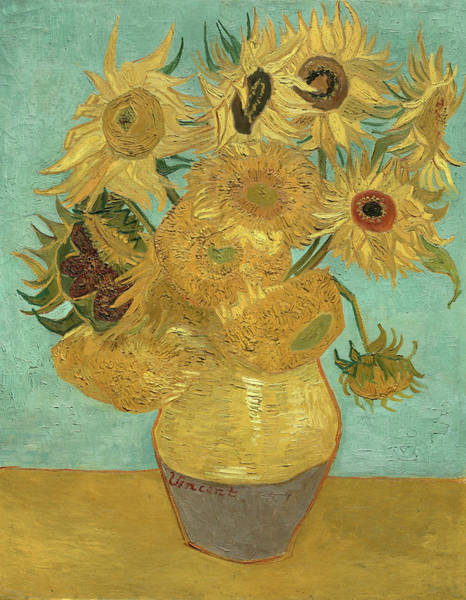 Yellow Ribbon Painting - Sunflower by Vincent van Gogh