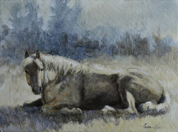 Aqha Painting - Sunbather by Tracie Thompson