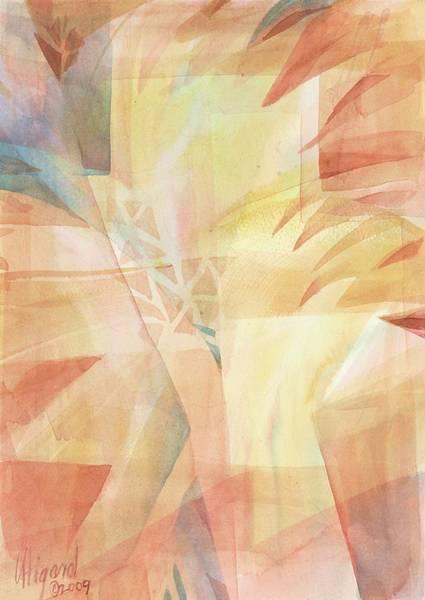 Painting - Sunbeams And Crystals by Carolyn Utigard Thomas