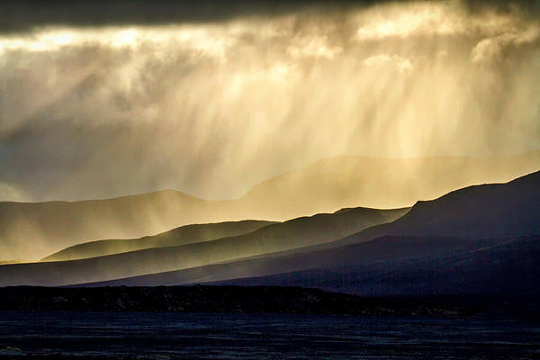 Photograph - Sunbeams On A Hillside - Iceland by Stuart Litoff