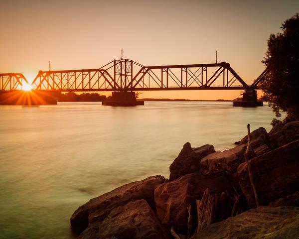 Photograph - Sunbeams Through Iron Work Over The Niagara by Chris Bordeleau