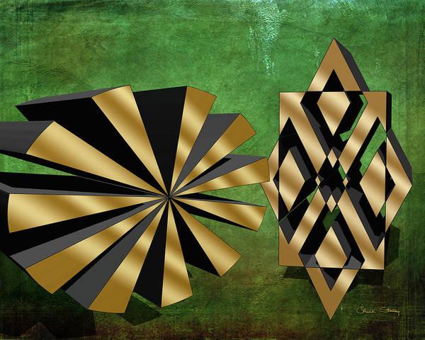 Digital Art - Sunburst And Friend 3 D by Chuck Staley