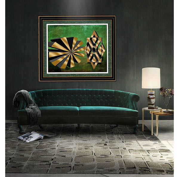 Digital Art - Sunburst And Friend 3 D Framed Print by Chuck Staley