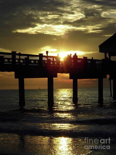 Photograph - Sunburst At Sunset by D Hackett
