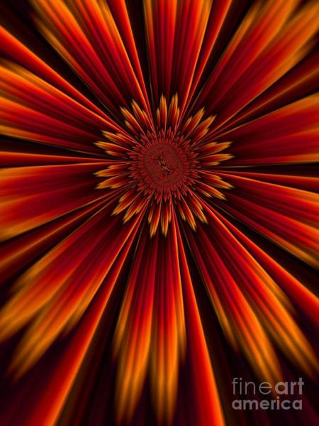 Wall Art - Digital Art - Sunburst by John Edwards