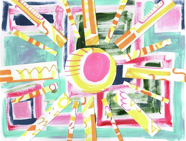Wall Art - Mixed Media - Sunburst by Kristy Lankford
