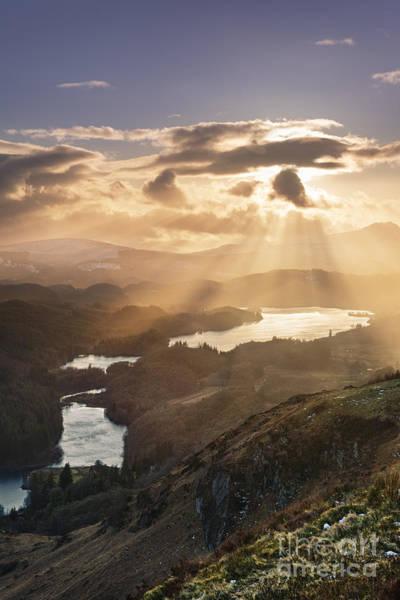 Loch Ard Photograph - Sunburst Over Loch Ard 2 by Rod McLean
