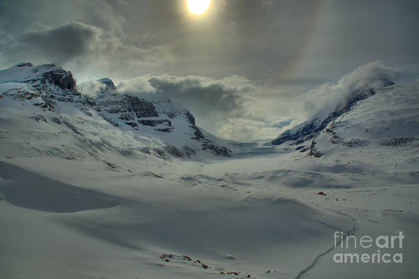 Photograph - Sunburst Over The Columbia Icefield by Adam Jewell