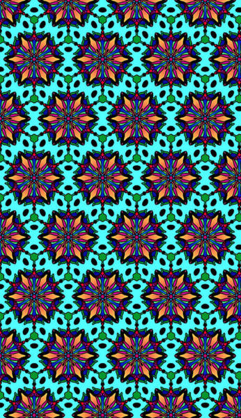 Digital Art - Sunburst Star Flower Pattern by Becky Herrera