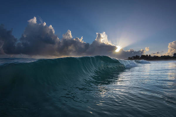 Wall Art - Photograph - Sunburst Wave by Sean Davey