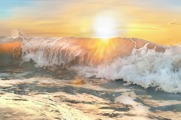 Photograph - Sunburst Waves by Stacey Sather