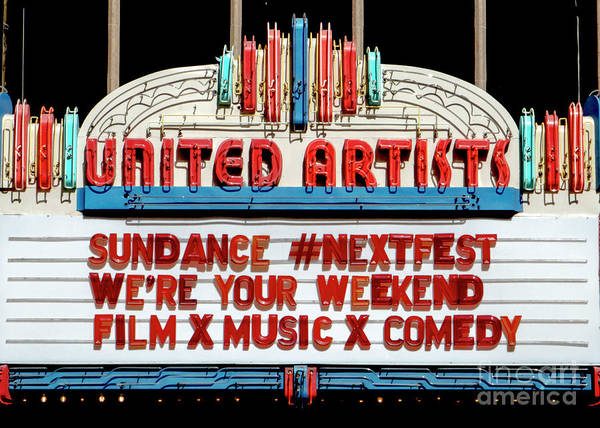 Sundance Next Fest Theatre Sign 1 Art Print