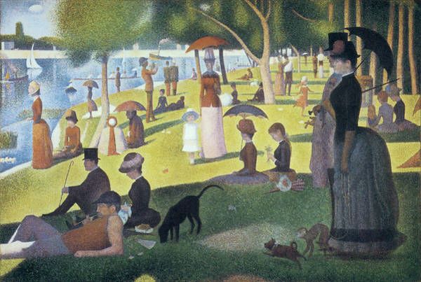 Wall Art - Photograph - Sunday Afternoon On The Island Of La Grande Jatte by Georges Seurat
