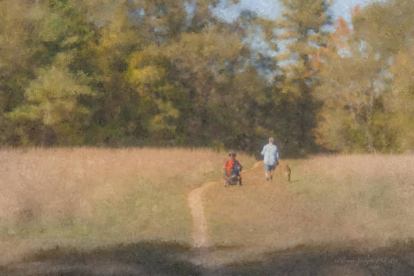 Painting - Sunday Afternoon Walk by Bill McEntee