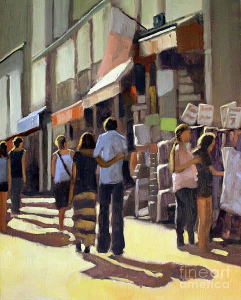 Wall Art - Painting - Sunday Bazaar by Tate Hamilton