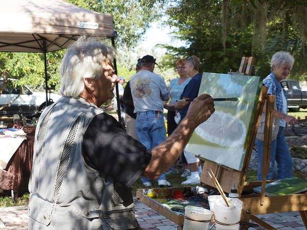 Plein Air Photograph - Sunday In The Park by Charles Peck