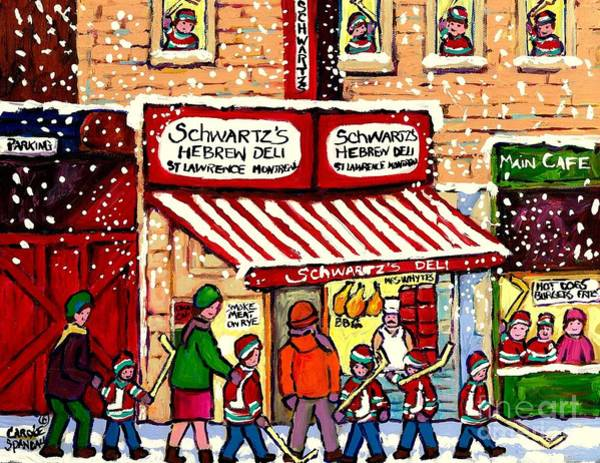 Painting - Sunday Lineup At The Deli by Carole Spandau