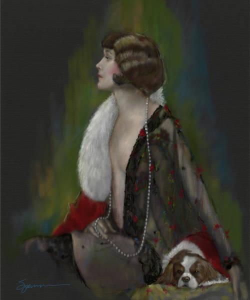 Elegant Dog Painting - Sunday by Mary Sparrow
