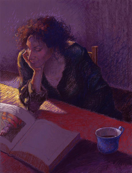 Woman Reading Wall Art - Painting - Sunday Morning by Ellen Dreibelbis