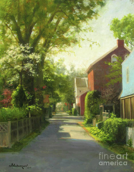 Neighborhood Painting - Sunday Morning, George Street by David Henderson