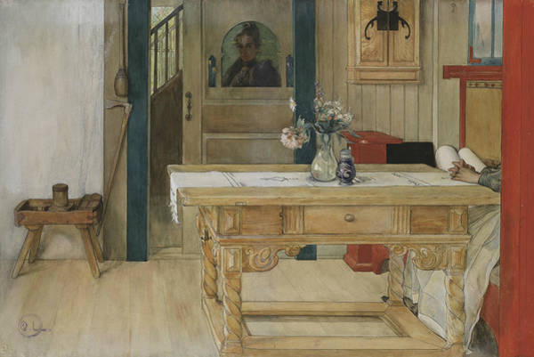 Painting - Sunday Rest by Carl Larsson