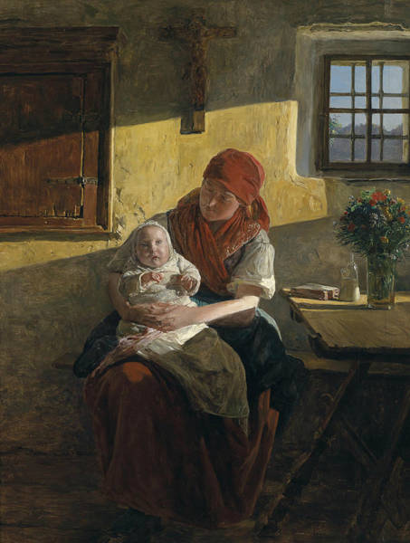 Painting - Sunday Rest by Ferdinand Georg Waldmuller