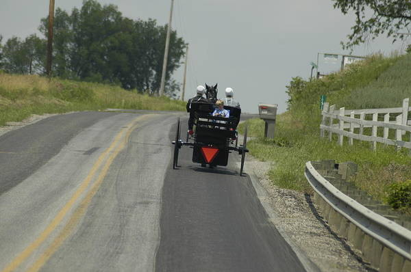 Amish Country Digital Art - Sunday Ride by Kathy McCaulley