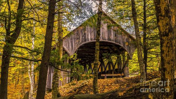 Photograph -  Sunday River / Artist's Covered Bridge. by New England Photography
