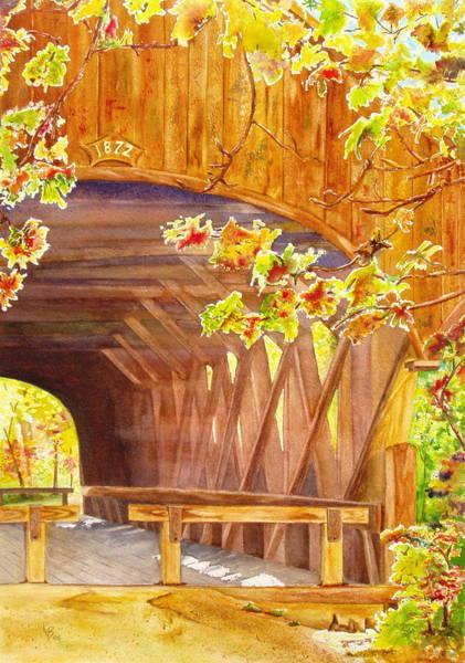 Painting - Sunday River Bridge by Karen Fleschler