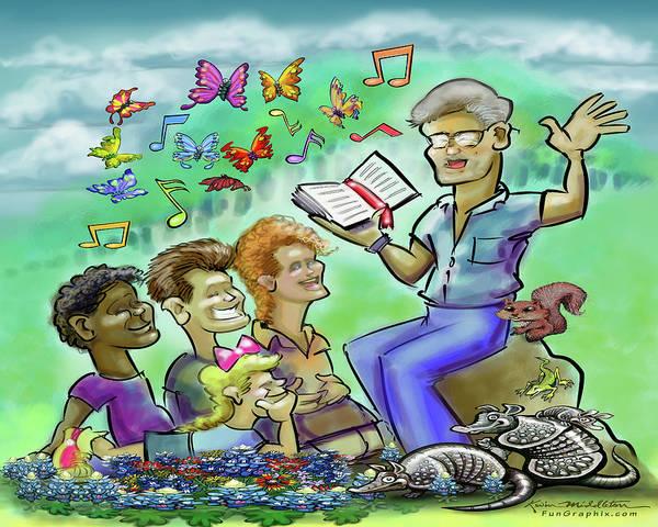 Digital Art - Sunday School Bible Lesson by Kevin Middleton