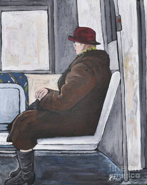 Pointe St Charles Painting - Sundays On The 107 Bus by Reb Frost