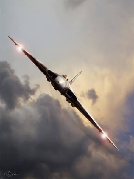 Avro Wall Art - Digital Art - Sundown Approach by Peter Chilelli