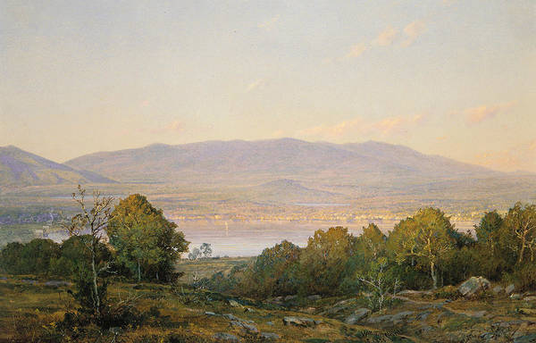 Wall Art - Painting - Sundown At Centre Harbor, New Hampshire by William Trost Richards