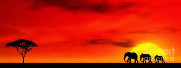 Wall Art - Digital Art - Sundown by John Edwards