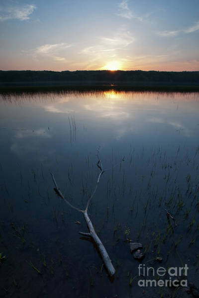 Photograph - Sundown, Kennebec River, South Gardiner, Maine #8380-8382 by John Bald