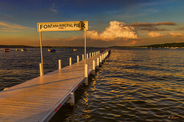 Photograph - Sundown - Lake Geneva Wisconsin by Ben Thompson