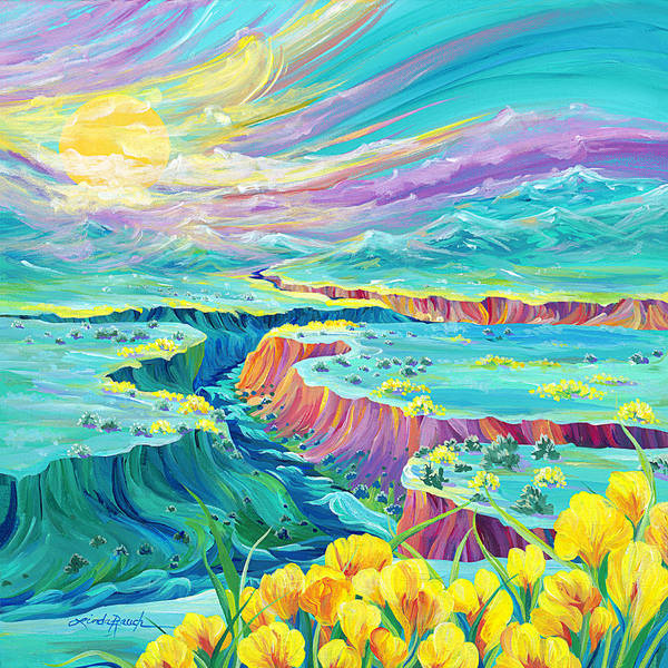Painting - Sundown by Linda Rauch