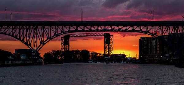 Wall Art - Photograph - Sundown On The Cuyahoga River by Dale Kincaid
