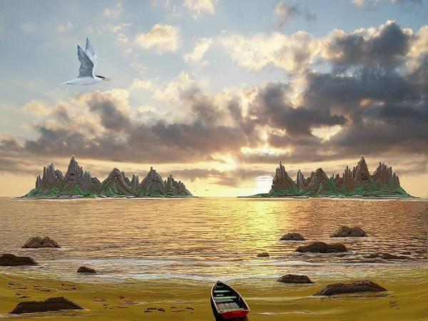 Digital Art - Sundown Seascape by Tony Rodriguez