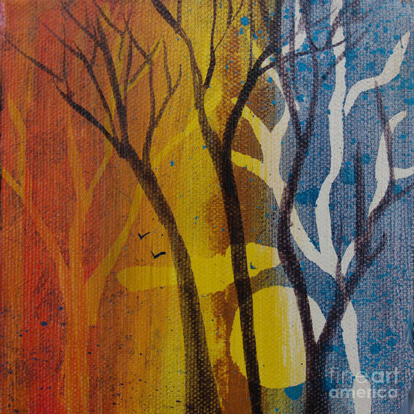 Painting - Sundown Through Trees by Robin Maria Pedrero