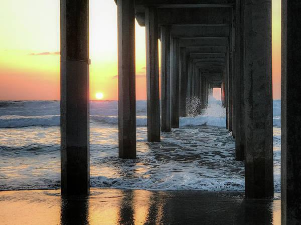 Scripps Pier Photograph - La Jolla Pier Sunset  by Trice Jacobs