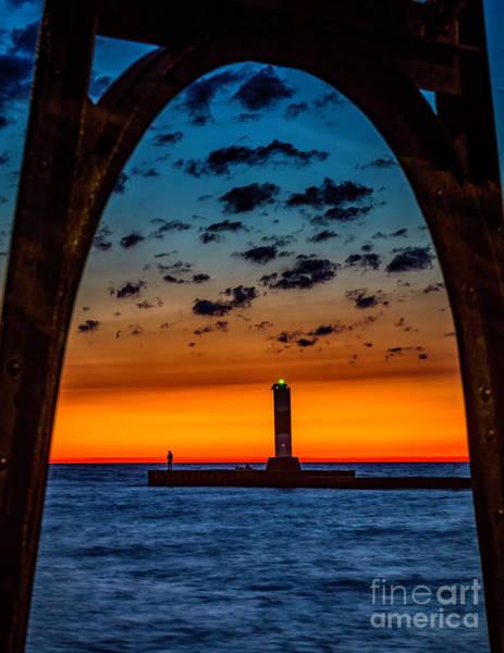 Photograph - Sunset Thru The Catwalk by Nick Zelinsky