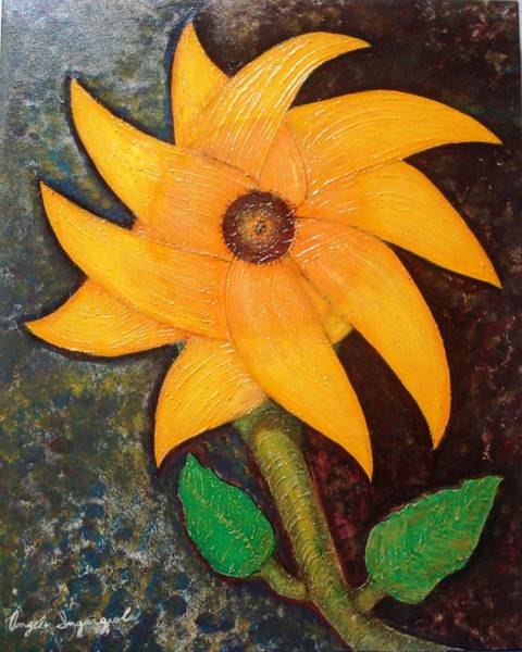 Wall Art - Painting - Sunflower by Angelo Ingargiola