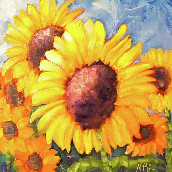Photograph - Sunflower Beauties by Natalie Rotman Cote