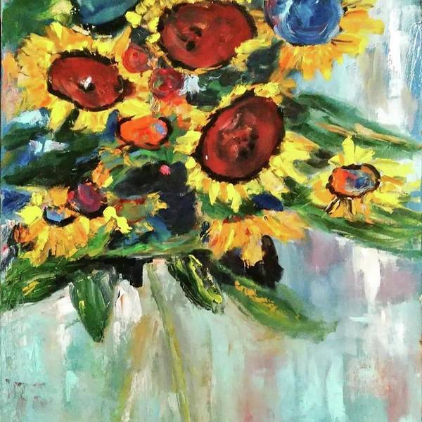 Painting - Sunflower Bouquet by Constance Paul