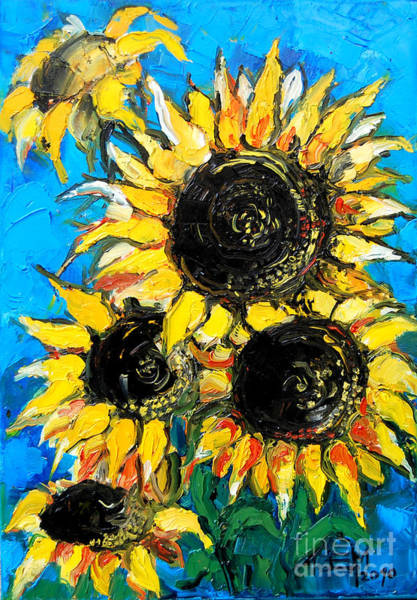Wall Art - Painting - Sunflower Bouquet by Mona Edulesco
