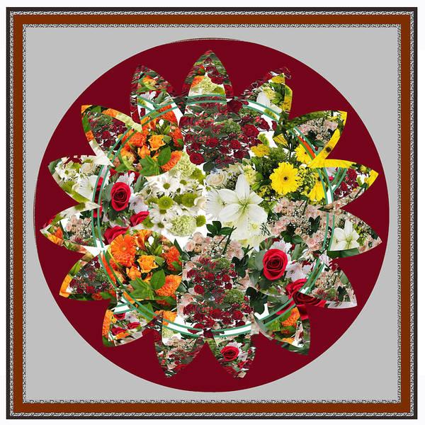 Calla Mixed Media - Sunflower Bouquet Flower Arrangement  Created By Navin Joshi Artist by Navin Joshi