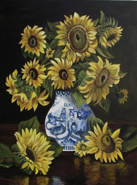 Wall Art - Painting - Sunflower Bouquet by Kim Selig
